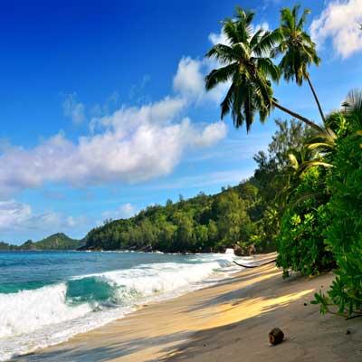 Mahe Beach in Seychelles